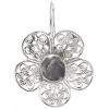 Filigree Earring Setting 36mm Flower Imitation Rhodium